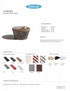 Florence Medium Round Coffee Table - Image 2