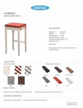 Florence Backless Bar Stool