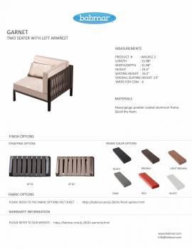 Garnet Corner Chair - Image 2