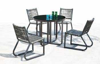 Shop By Collection - Haiti Collection - Haiti Armless Dining Set For 4