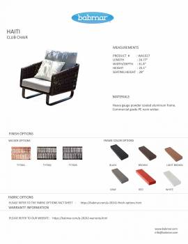 Haiti  Club Chair - Image 2