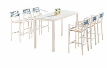 Shop by Category  - Outdoor Bar Sets - Hyacinth Bar Set for 6