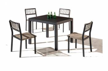 Hyacinth Dining Set for 4 with Chairs without Arms
