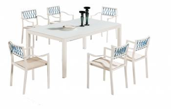 Shop By Collection -  Hyacinth Collection  - Hyacinth Dining Set for 6 with Chairs with Arms