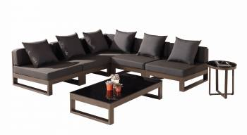"Shop By Collection - Amber Collection - Amber ""V"" Shape Sectional - QUICK SHIP"