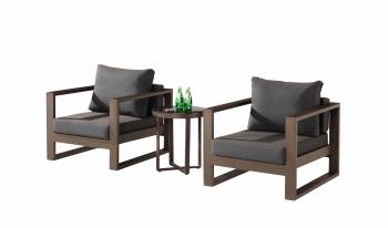 Amber Club Chair Set for 2 and Side Table - QUICK SHIP