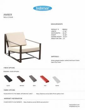 Amber Mila Lounge Sofa Chair - QUICK SHIP - Image 3