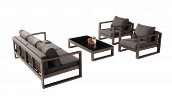 Shop By Collection - Amber Collection - Amber Sofa Set for 5 with 2 Club Chairs - QUICK SHIP