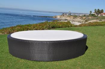 Shop By Collection - Swing 46 Collection - Babmar - Flatiron Round Sun Bed - QUICK SHIP