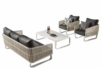 Shop by Category  - Outdoor Seating Sets - Apricot Seating Set for 5 with 2 Chairs