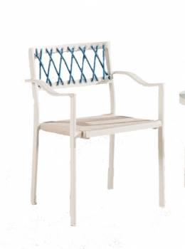 Hyacinth Dining Chair with Arms - Image 1