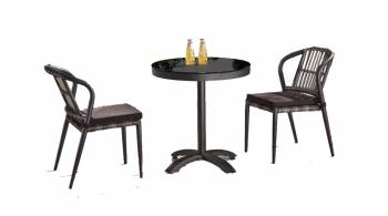 Shop By Collection - Kitaibela Collection - Kitaibela Armless Dining Set for Two with Small Bistro Table
