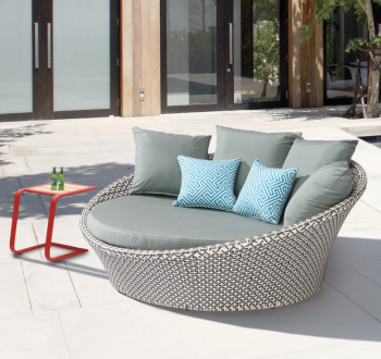 Shop By Category - Outdoor Daybeds - Babmar - Circular Modern Daybed
