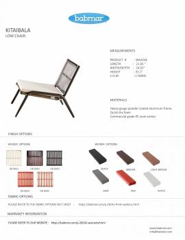 Kitaibela Low Chair