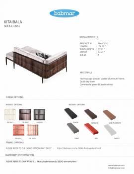 Kitaibela Sofa Chaise - Image 2