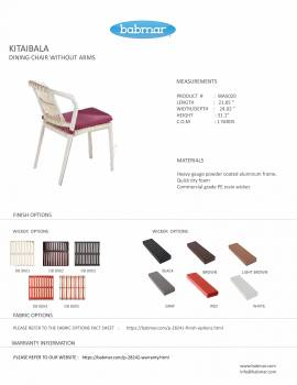 Kitaibela Armless Dining Chair - Image 2