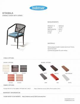 Kitaibela Dining Chair With arms - Image 2