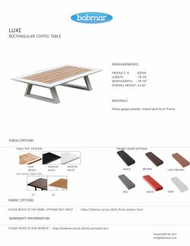 Luxe Rectangular Coffee Table - Image 2