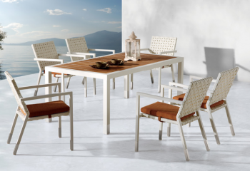Taco Dining Set For 6 With Arms