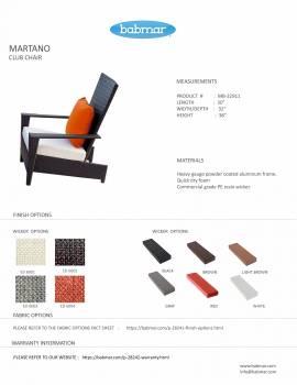 Martano Outdoor Chair Set