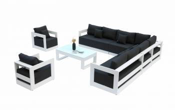 Babmar - Lusso XL Sectional Sofa Set With Two Club Chairs