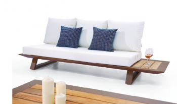 Luxe Loveseat Set With Built-In Side Tables And Two Club Chairs - Image 3