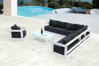 Babmar - Lusso XL Sectional Sofa Set With Club Chair - Image 2