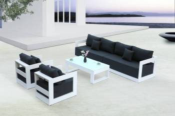 Babmar - Lusso Long Sofa With Club Chairs - Image 2