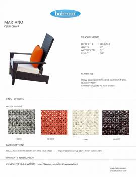 Martano Chair with Side Table