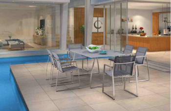 Shop By Collection - Stainless Steel Batyline Mesh Collection - Siddal Dining Set For 6