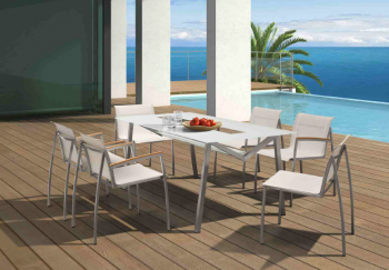 Shop By Collection - Stainless Steel Batyline Mesh Collection - Vecchio Dining Set For 6