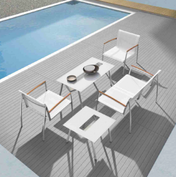 Shop By Collection - Stainless Steel Batyline Mesh Collection - Vecchio Loveseat Set