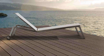 Shop By Category - Outdoor Chaise Lounges - Vecchio Chaise Lounge With Wheels