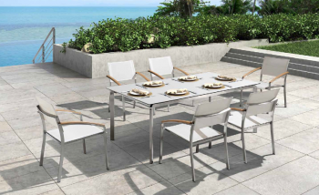 Shop By Collection - Stainless Steel Batyline Mesh Collection - Babmar - Titans Dining Set For 6