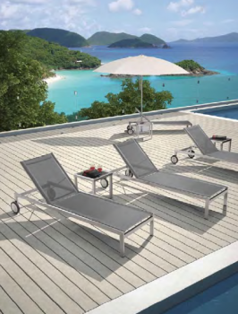 Shop By Category - Outdoor Chaise Lounges - Babmar - Adonis Chaise Lounge