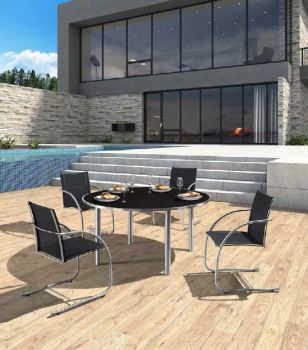 Shop By Collection - Stainless Steel Batyline Mesh Collection - Babmar - Origin Dining Set For 4