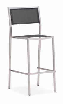 Shop By Collection - Stainless Steel Batyline Mesh Collection - Babmar - Talos Armless Bar Stool