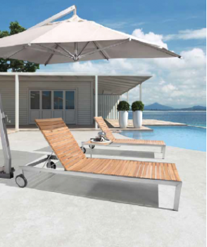 Shop By Collection - Stainless Steel Teak Collection - Babmar - Sunny Chaise Lounge