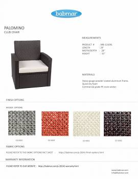 PalominoClub Chair With Ottoman
