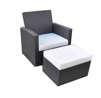 Palomino Club Chair With Ottoman