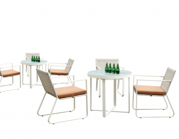 Polo Dining Set for 3 with 3 chairs and Round table
