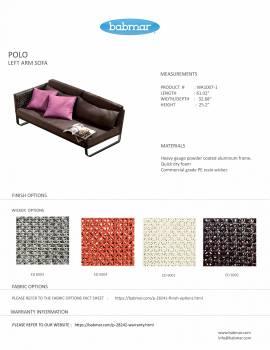 Polo Sofa Set with Bench - Image 3