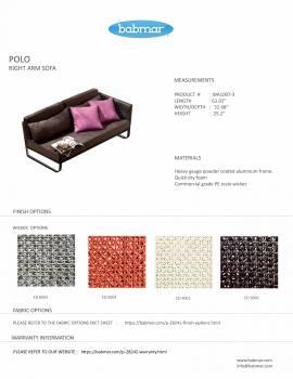 Polo Sofa Set with Bench - Image 4