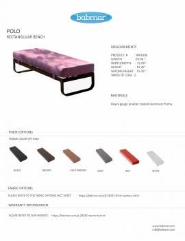 Polo Sofa Set with Bench - Image 6