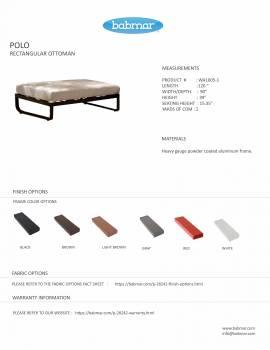 Polo Sofa Set with Bench - Image 7