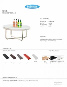 Polo Round Coffee Table - Image 4