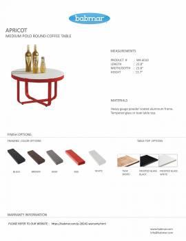 Polo Medium Round Coffee Table - Image 3