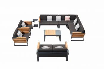 "Shop By Category - Outdoor Seating Sets - Babmar - Avant ""XL"" Sectional Set"