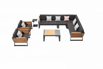 Shop By Category - Outdoor Seating Sets - Babmar - AVANT SECTIONAL SOFA SET WITH 2 CLUB CHAIRS