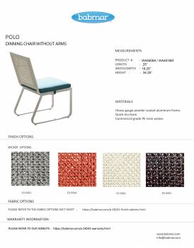 Polo Dining Set for 3 with 3 chairs and Round table - Image 3